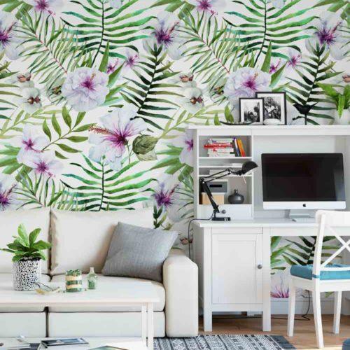 Mural Tropical Hibiscus