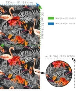 Flamingos com Fundo Negro Papel de Parede SPECS-XL