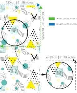Arte Popular Moderna Papel de Parede-SPECS-XL