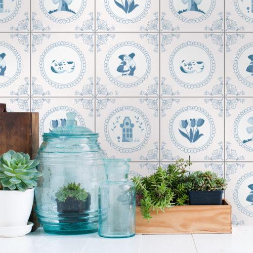 Azulejo Holandês Tradicional autocolante