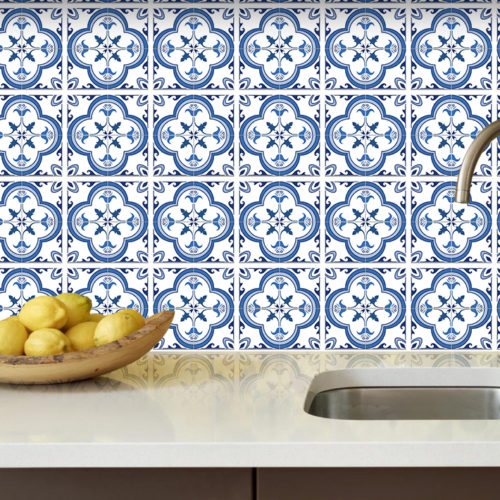Azulejo Tradicional Português Azul autocolante