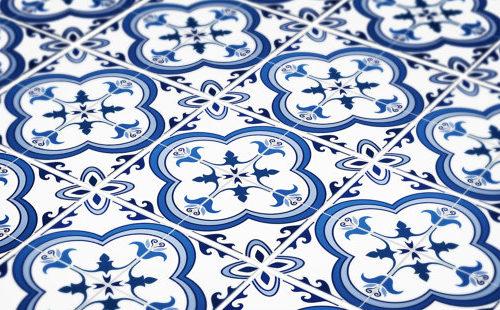 Azulejo Tradicional Português Azul autocolante-3