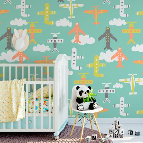 Aviões Decoração de Quarto Infantil