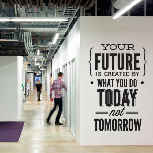 Do It Today Not Tomorrow em Vinil Decorativo