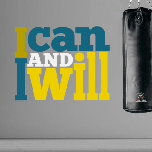 I can and I will em Vinil Decorativo