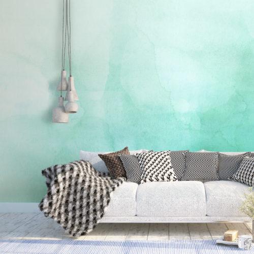 Mural Degradê Verde Aguarela