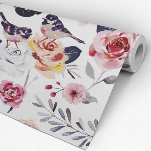Papel de Parede Floral Vintage Rolo