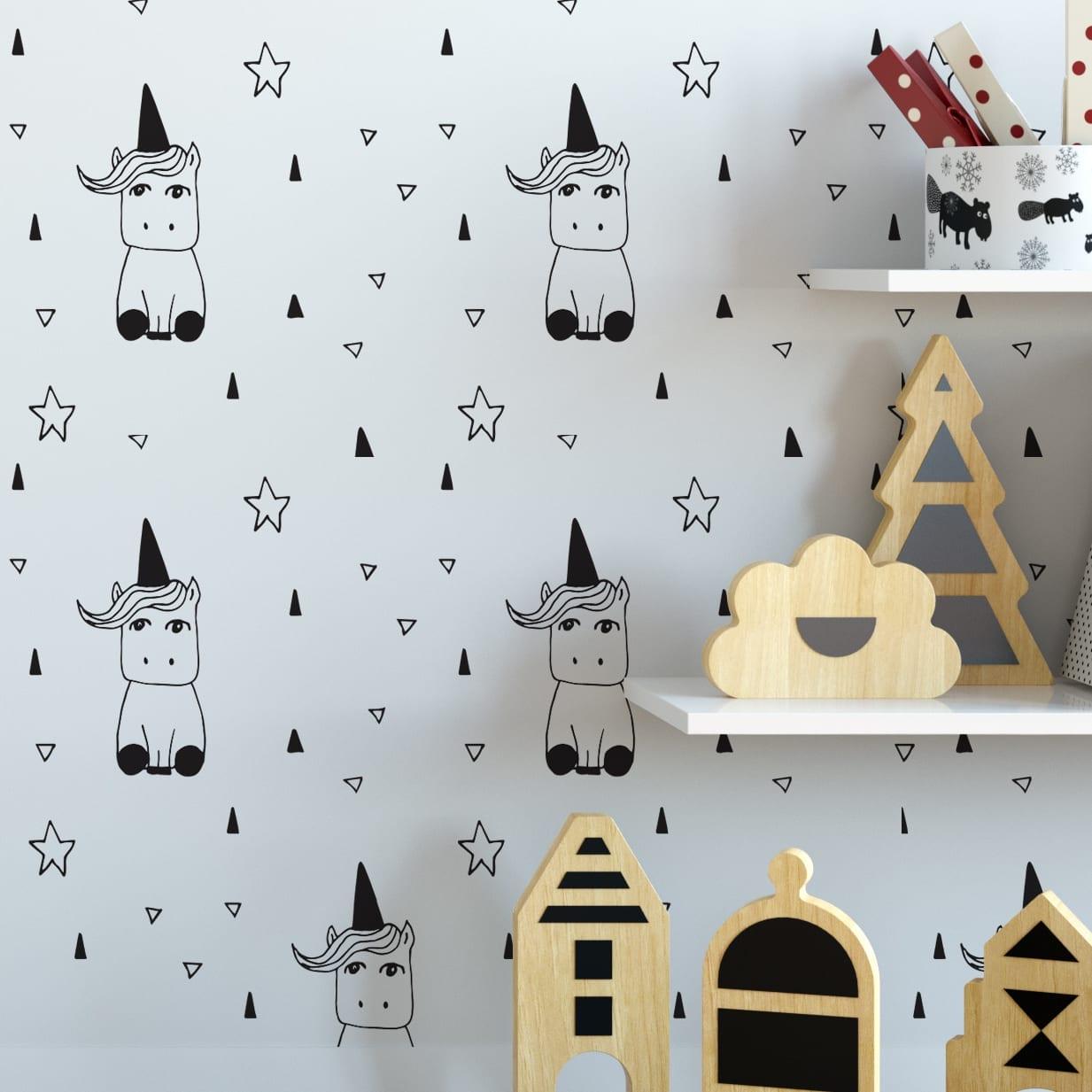 Unic rnio decora o quarto crian a - Papel paredes ikea ...