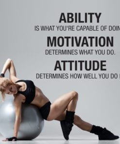 Ability Motivation Attitude em Vinil Decorativo