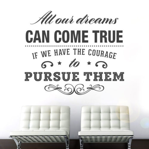All Dreams Come True em Vinil Decorativo
