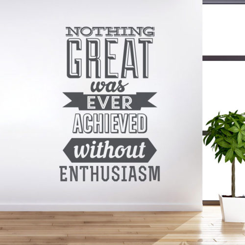 Achieve With Enthusiasm em Vinil Autocolante