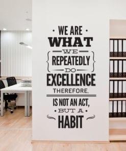 Excellence Office em Vinil Autocolante