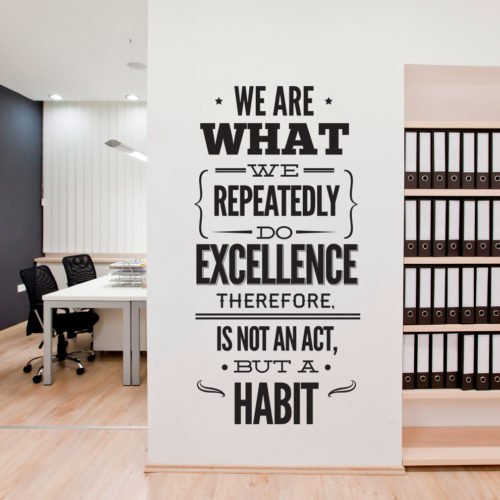 Excellence Office em Vinil Autocolante