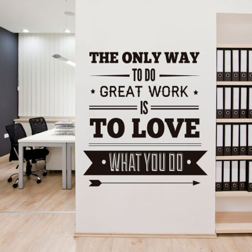 Office Decor Typography em Vinil Autocolante