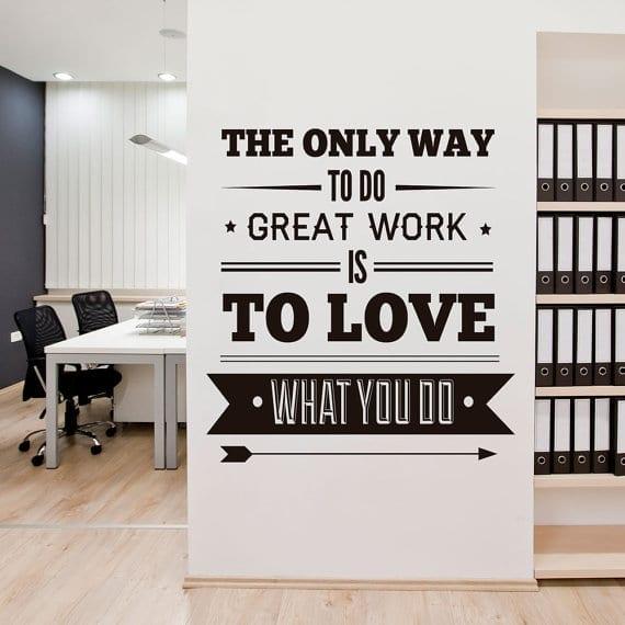 office decor typography em vinil autocolante casadart pt
