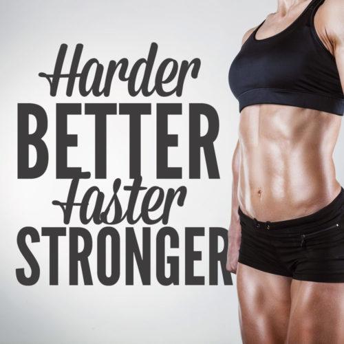 Harder Better Faster Stronger em Vinil Decorativo