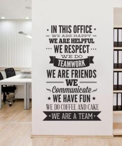 In This Office Vinil Decorativo