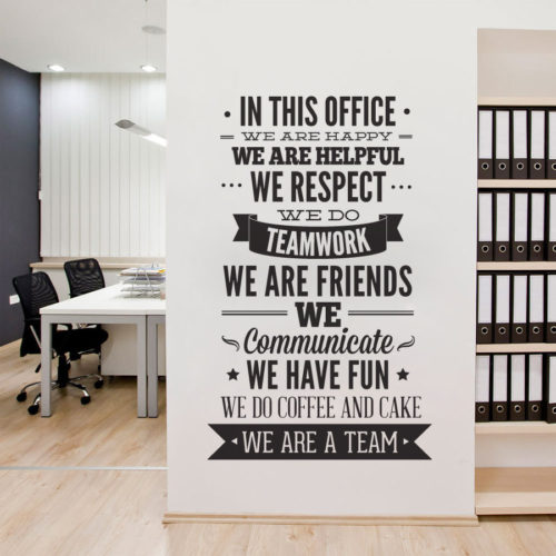 In This Office Vinil Decorativo