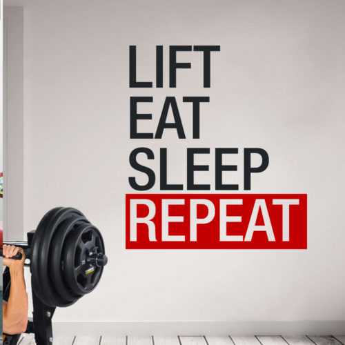 Lift Eat Sleep Repeat em Vinil Autocolante