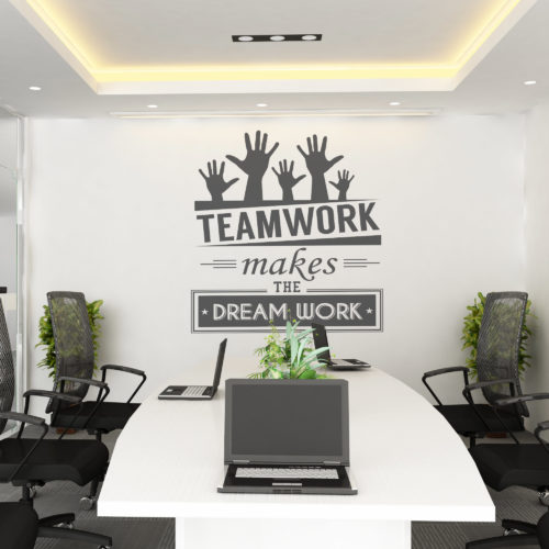 Teamwork Makes The Dream em Vinil Decorativo
