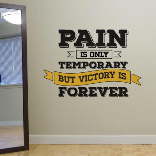 Victory is Forever em Vinil Decorativo