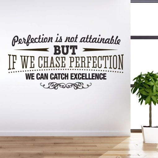 Catch Excellence em Vinil Decorativo