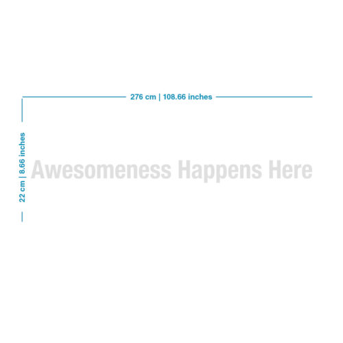 Awesomeness Decoração de Interiores - Dimensões