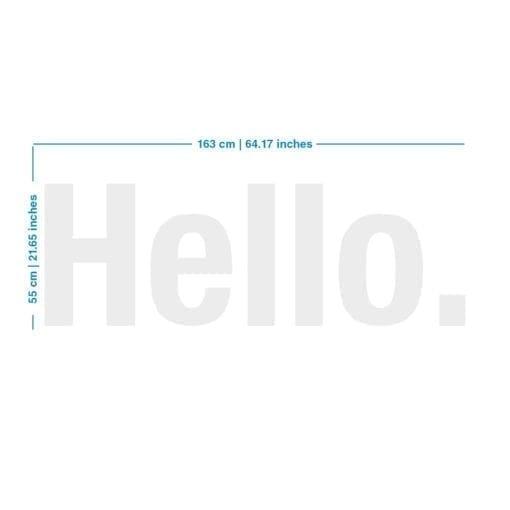 Hello 3D Decoração Escritório - Dimensões