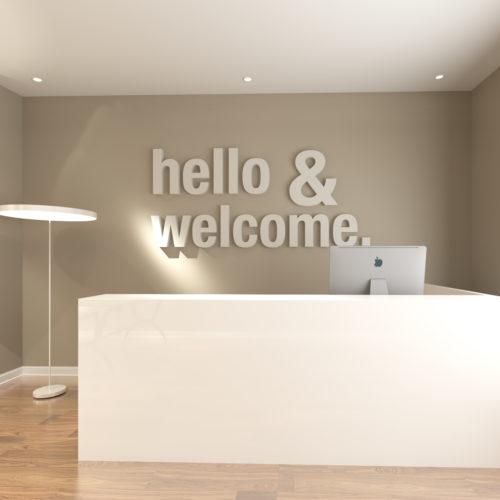 Hello & Welcome 3D Decoração Empresas