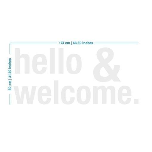 Hello & Welcome 3D Decoração Empresas - Dimensões