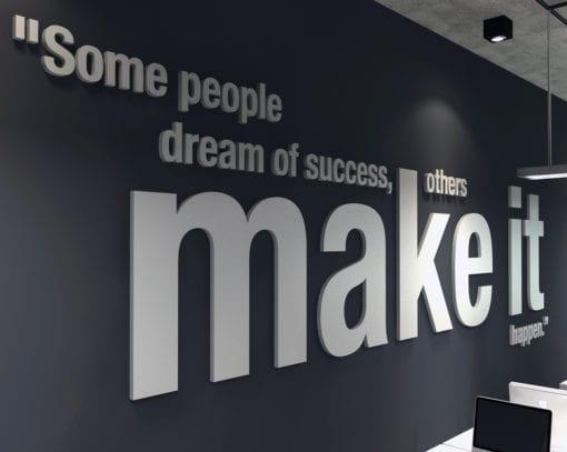 Make it Happen Paredes de Escritório 3D
