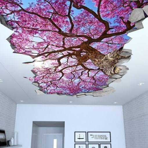 Efeito 3D para Teto Árvore de Cerejeira