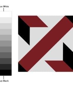 Azulejo Tradicional Francês Vermelho e Preto Autocolante - Espectro de Cores