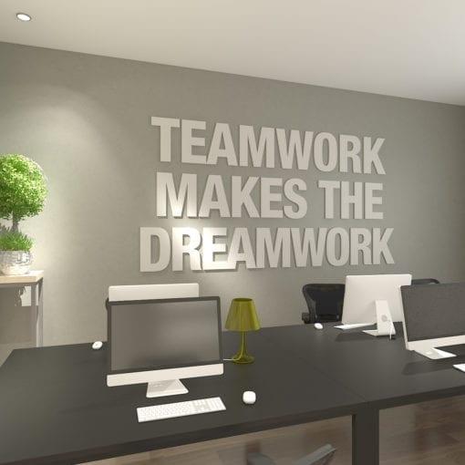 Teamwork Makes The Dreamwork Decoração Escritório