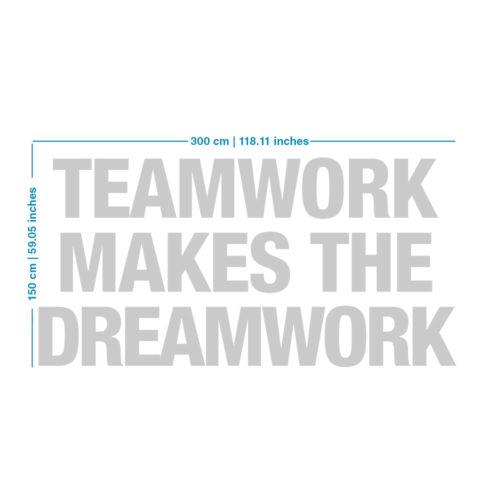 Teamwork Makes The Dreamwork Decoração Escritório - Dimensões