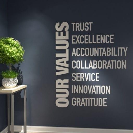 Our Values Decoração Escritório
