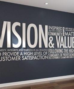 Vision & Values Decoração Escritório 3D