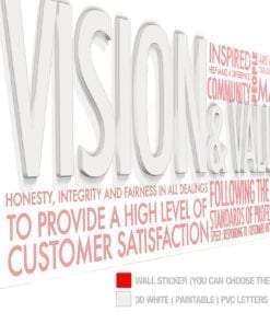 Vision & Values Decoração Escritório 3D - Esquema