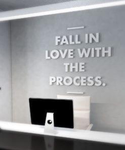 Love the Process Decoração Escritório