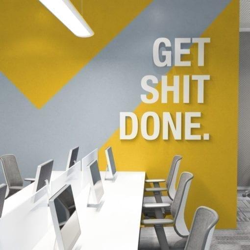 Get Shit Done Decoração Escritório 3D