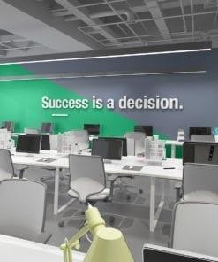 Success Is A Decision Decoração Escritório