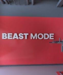 Beast Mode Decoração 3D para Ginásio