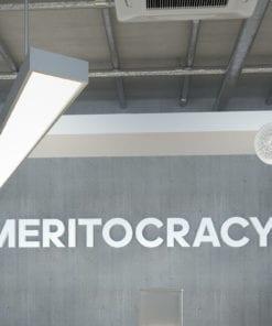 Meritocracy Decoração Escritório 3D