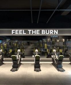 Feel the Burn Decoração 3D para Ginásio