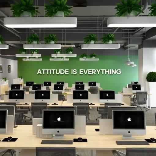 Attitude is Everything Decoração Escritório 3D
