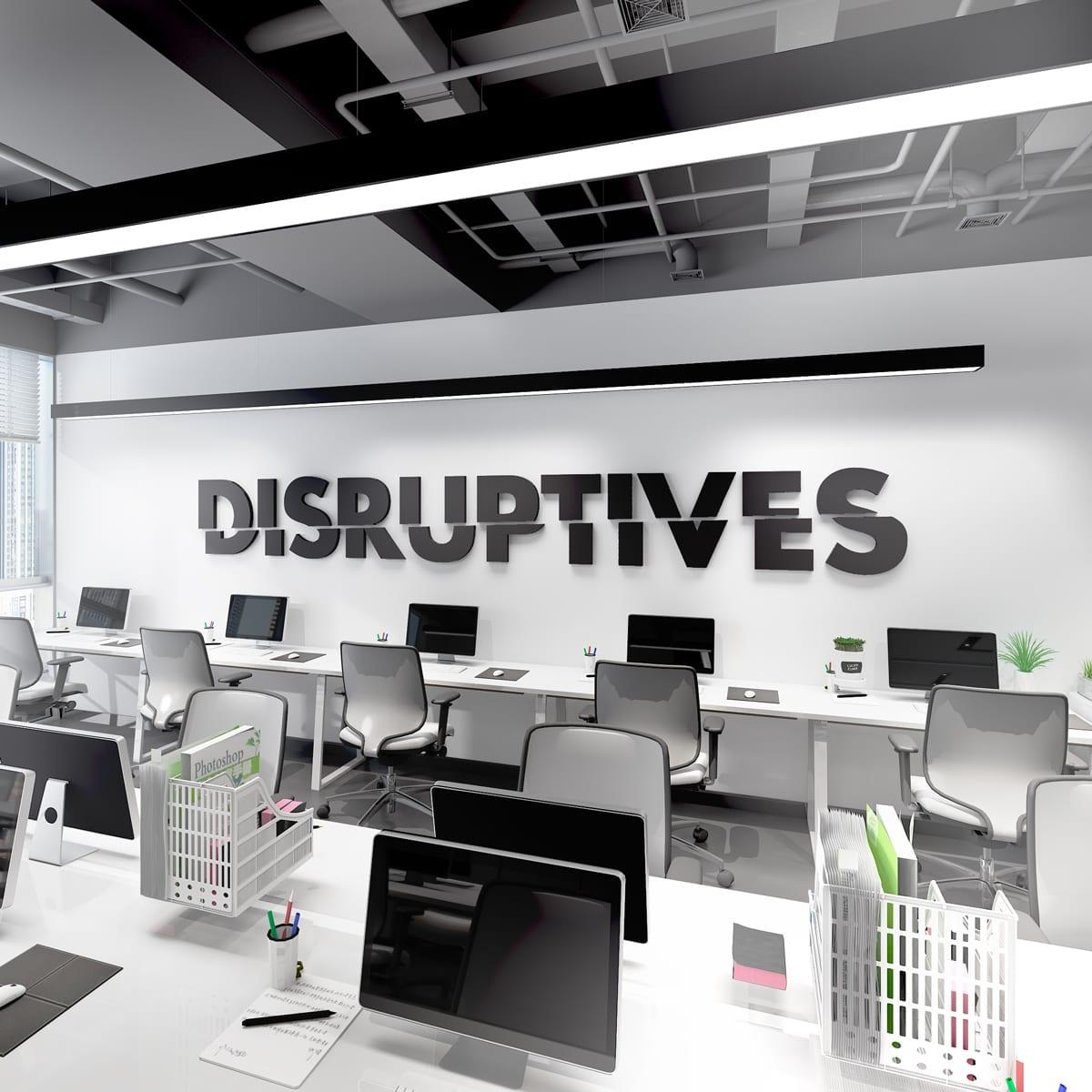 Disruptives Decoração Escritório 3D