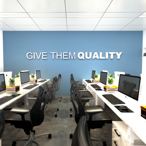 Give Them Quality Decoração Escritório 3D