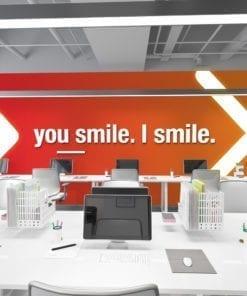You Smile I Smile Decoração Escritório 3D